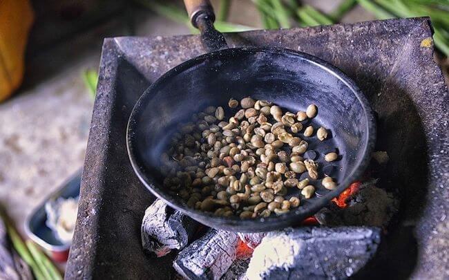 ethiopia coffee beans roasted ceremony