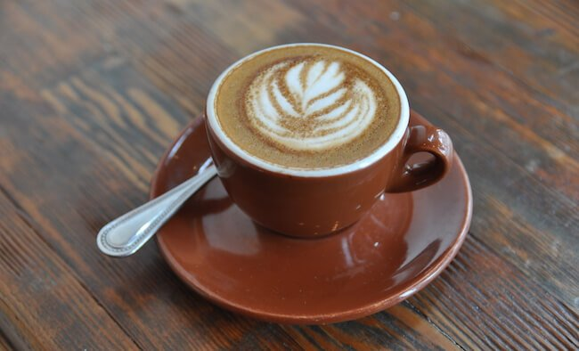 macchiato in a small cup
