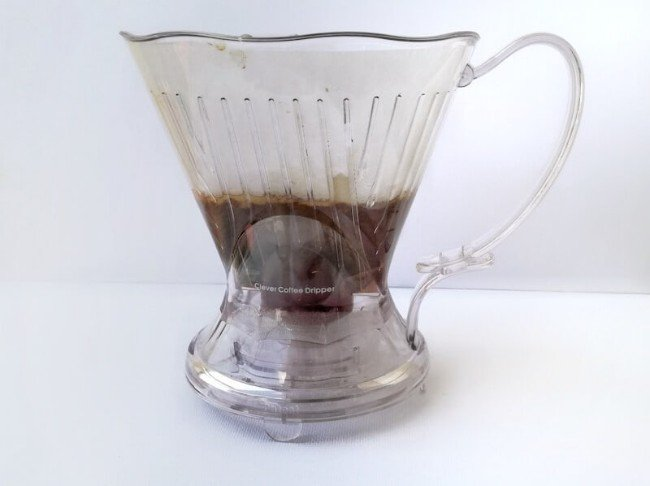 Clever coffee dripper white background