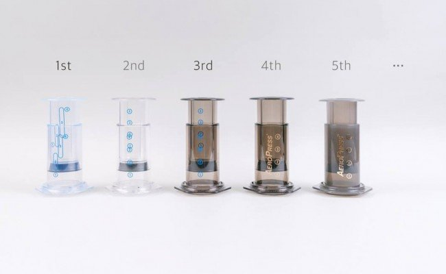 different versions of the aeropress