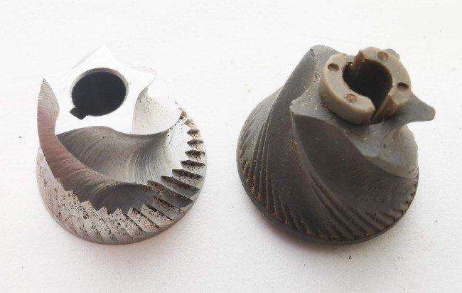 ceramic burr vs steel burr close up