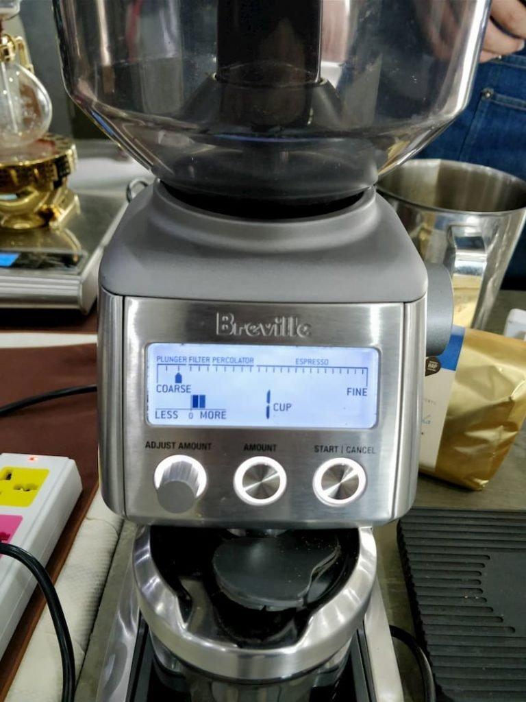 Breville smart grinder display
