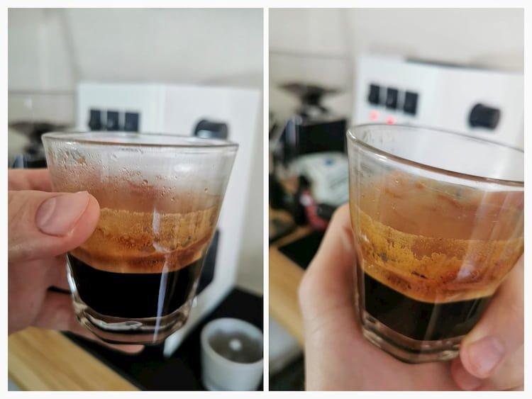 espresso shots gaggia classic